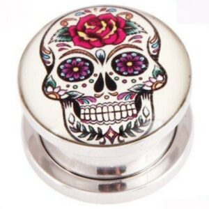 Colored Mexican Skull Piercing