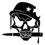 Military Skull Sticker