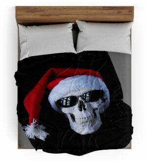 Christmas Skull Throw