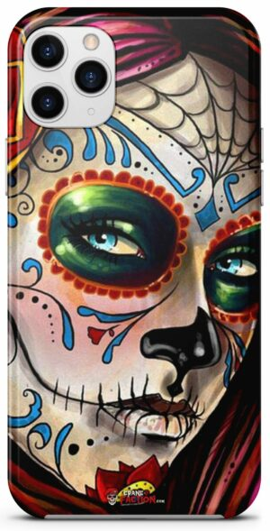 Mexican Woman Skull Shell