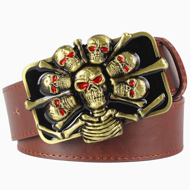 gothic skull belt