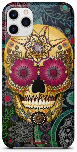 Mexican Skull Mandala Shell