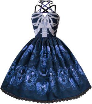Blue Skeleton Dress