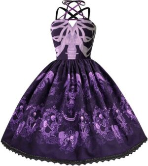 Purple Skeleton Dress