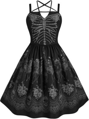 Gothic Skeleton Dress
