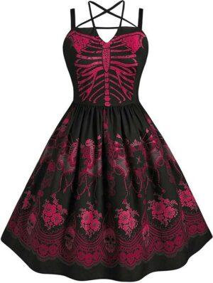 Red Skeleton Dress