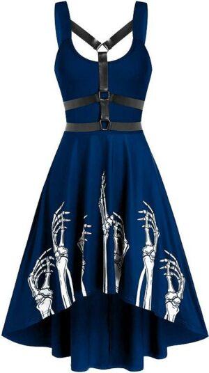 Long skull dress