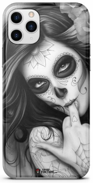 Black and White Mexican Skull Case