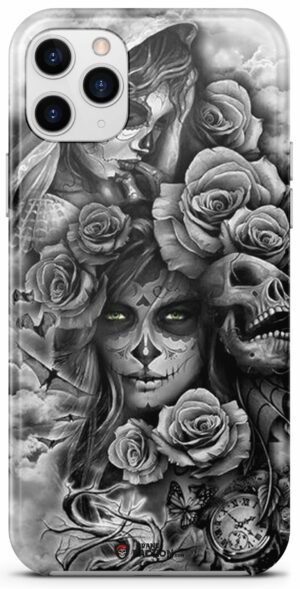 Mexican Skull Case With Flowers