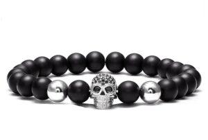 Men's Bracelet Skull Beads