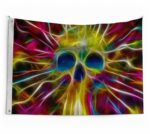 Multicolored Skull Flag