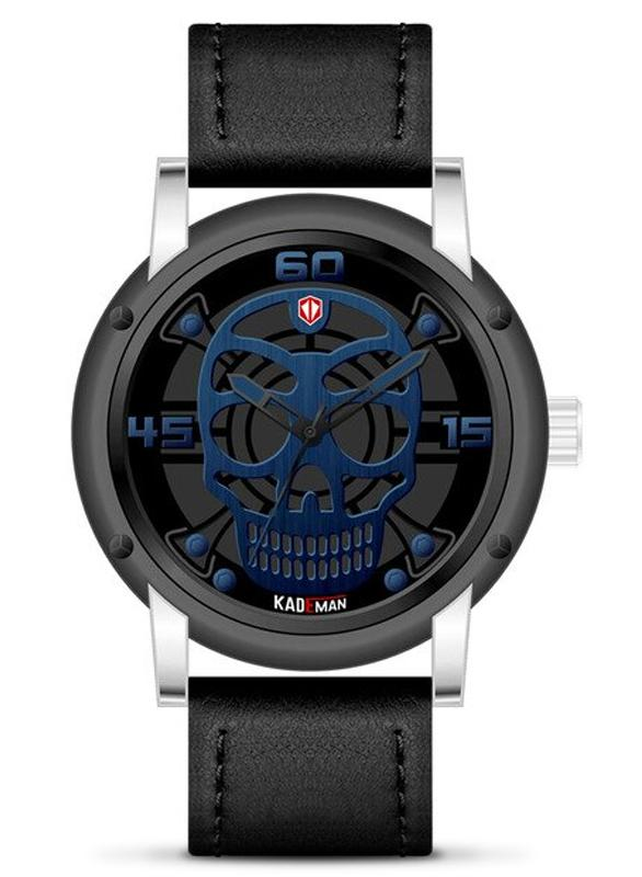 Elegant Blue Skull Watch