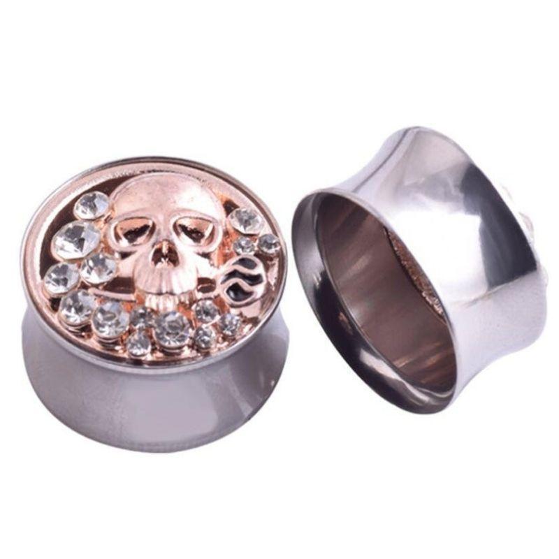 Skull Diamond Piercing