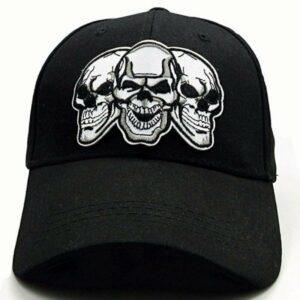 Black triple skull cap