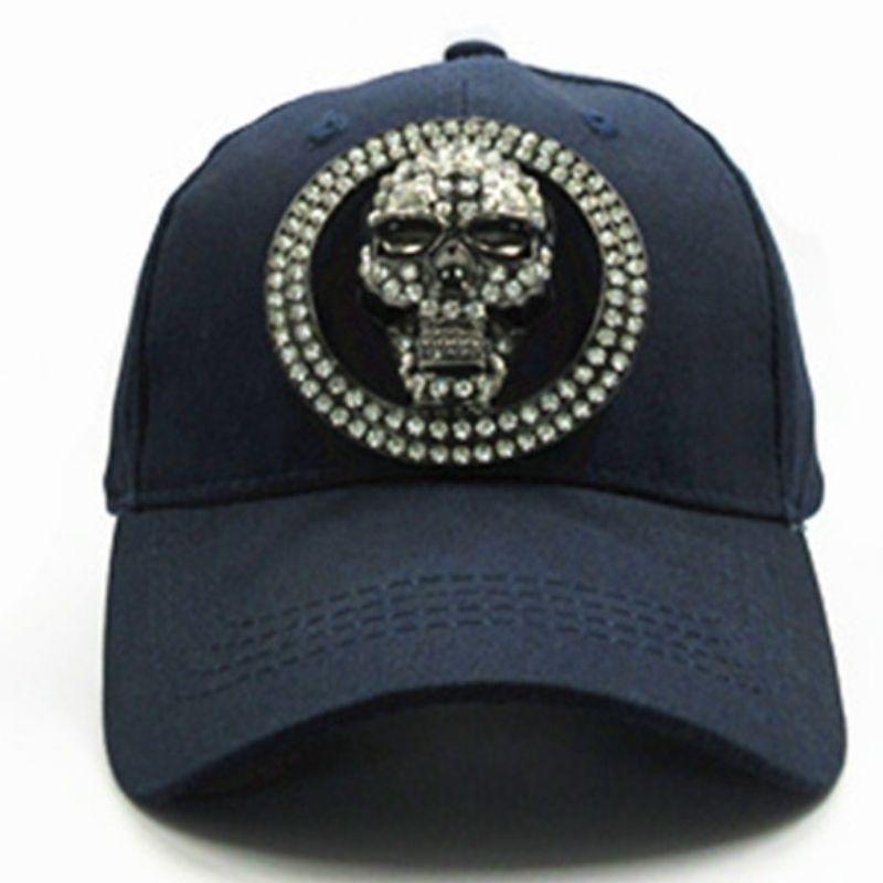 Navy blue skull cap