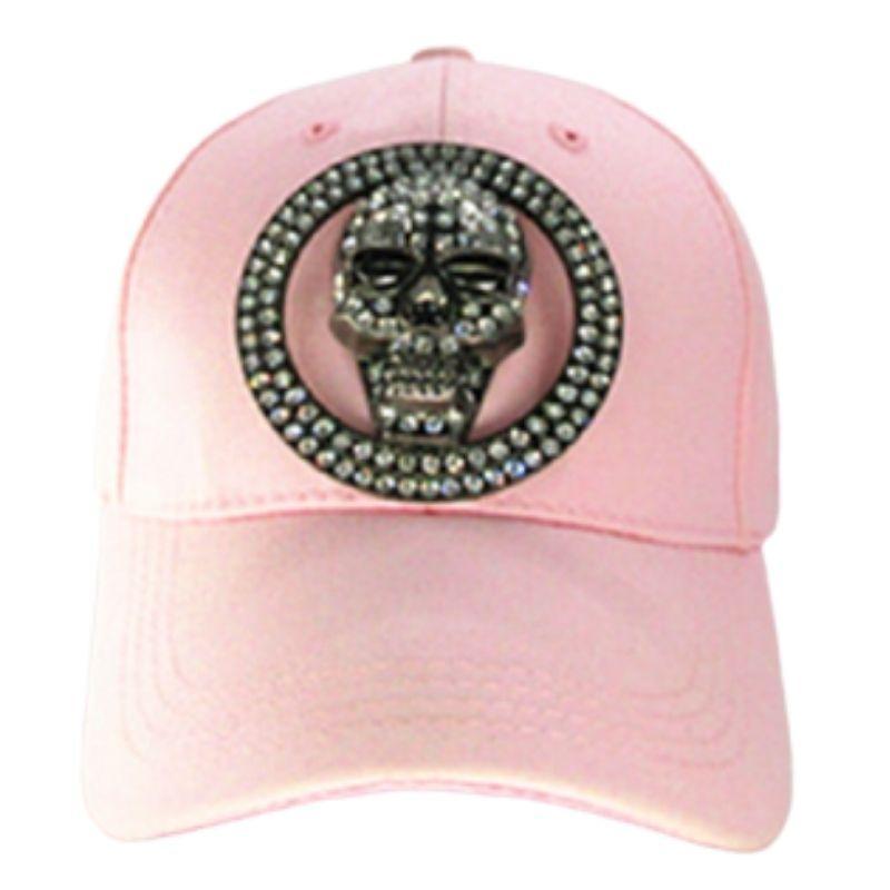 Rhinestone skull cap for women