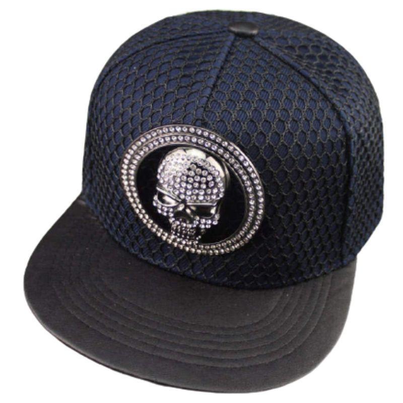 Bright skull cap with openwork fabric