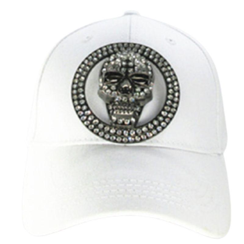 White skull cap shiny