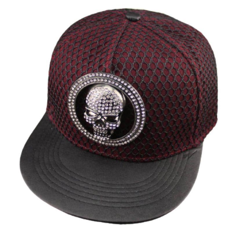 Mesh cap on skull