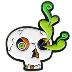 Cactus skull pin