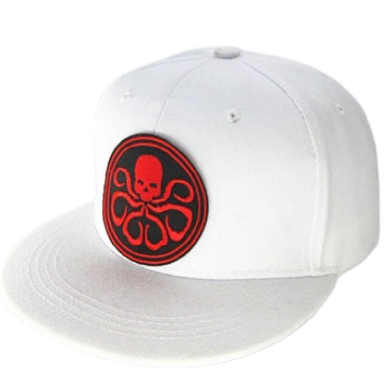 White cotton octopus skull cap