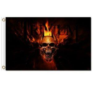 Death's Head on Fire Flag