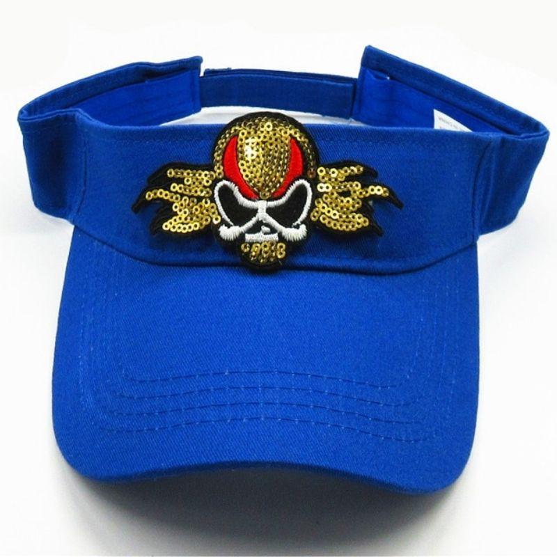 Rock star skull cap with sequins