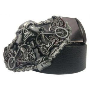 Motorcycle skull belt
