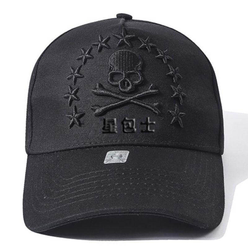 High end skull cotton cap