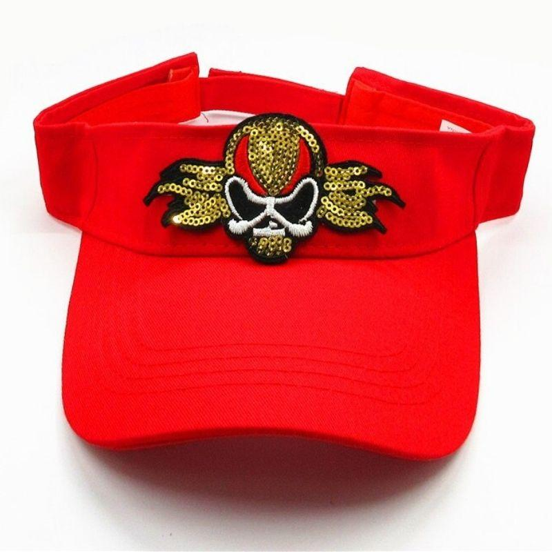Red cotton skull cap of star rock