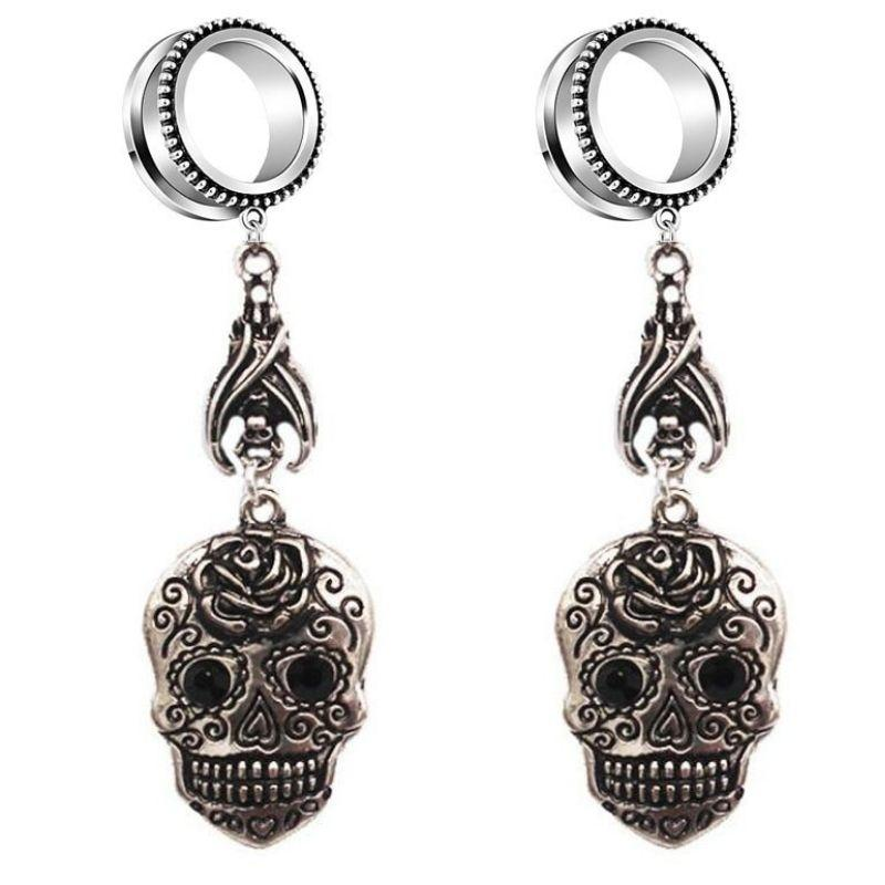 Realistic Mexican Skull Earrings