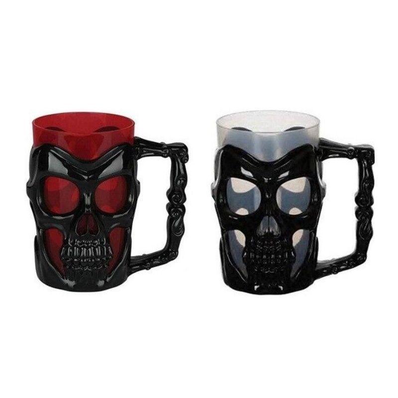 Pair of Black Skulls Mug