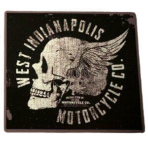 Skull Biker Sticker
