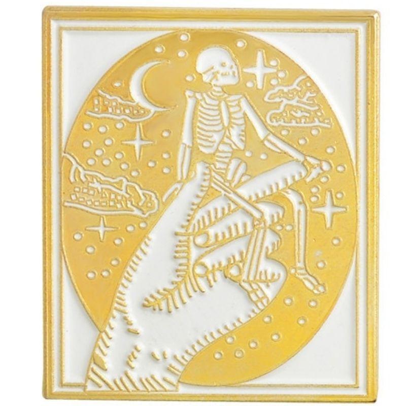 Death Skeleton Pin