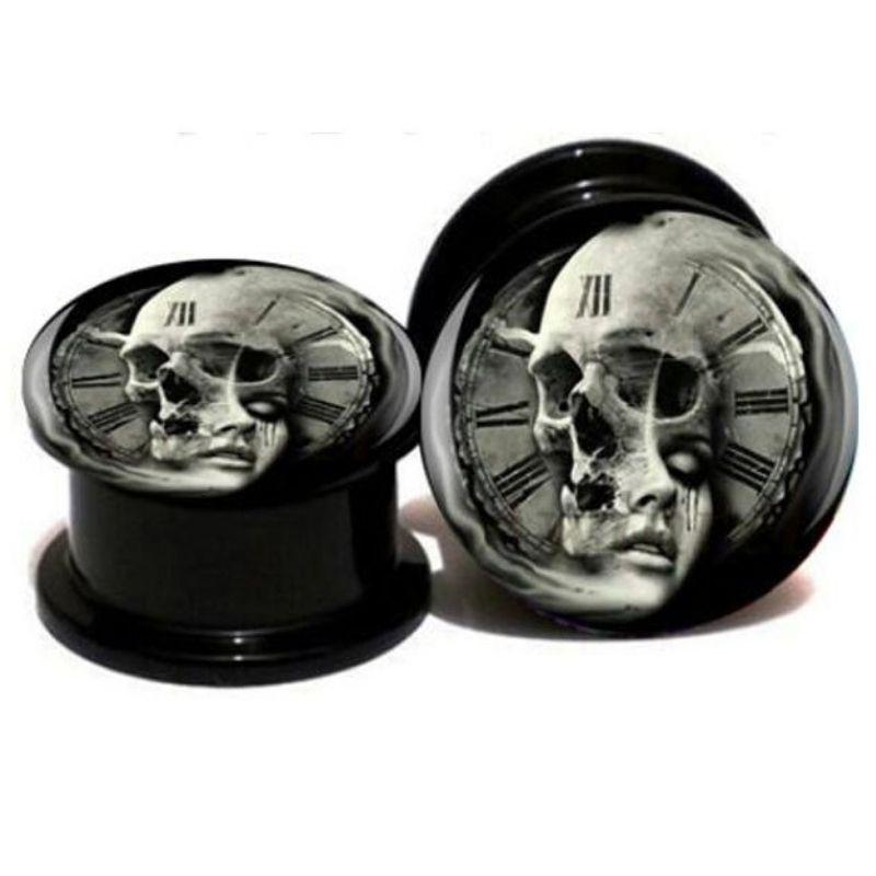 Skull Clock Piercing