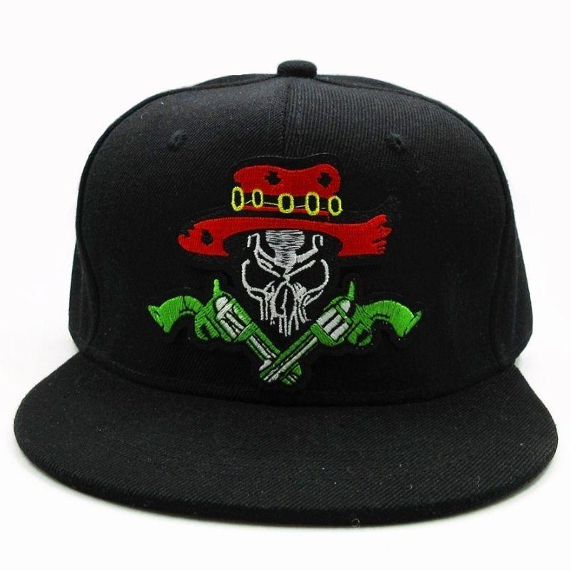 Skull cap with gun
