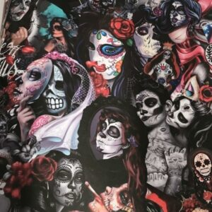 Mexican Skull Sticker Woman