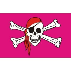 Pirate Pink Flag