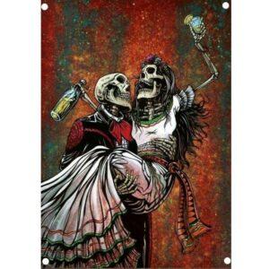 Skeleton Love Flag