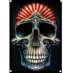 Mayan Skull and Crossbones Flag