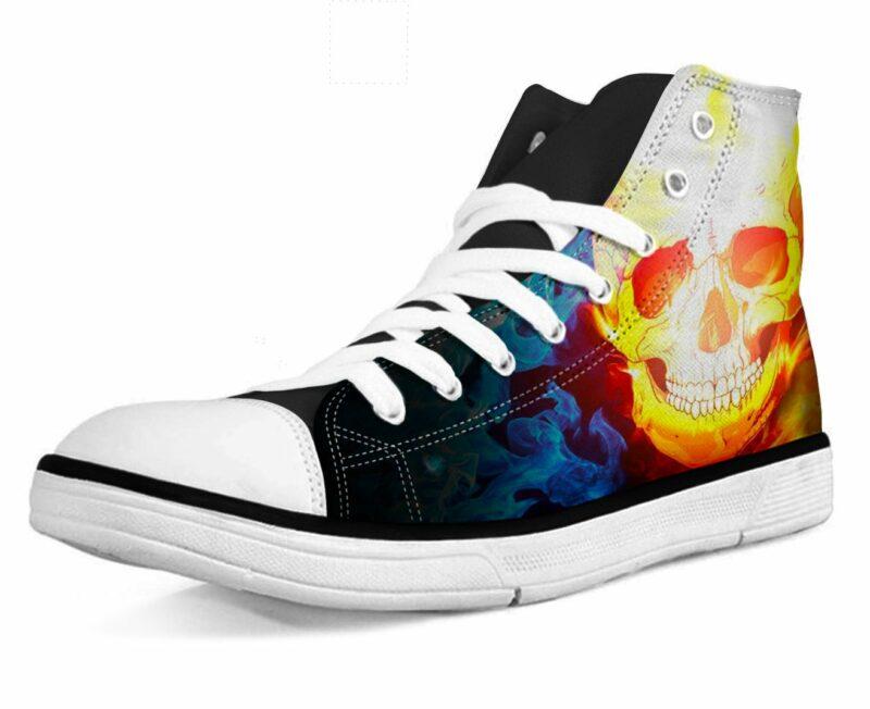 Shoe Skull On Fire