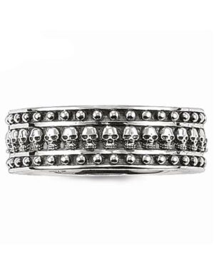 Gothic Silver Woman Ring