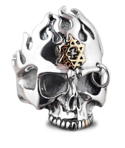 Silver Punk Man Ring