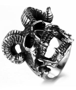 Satanic Man Ring