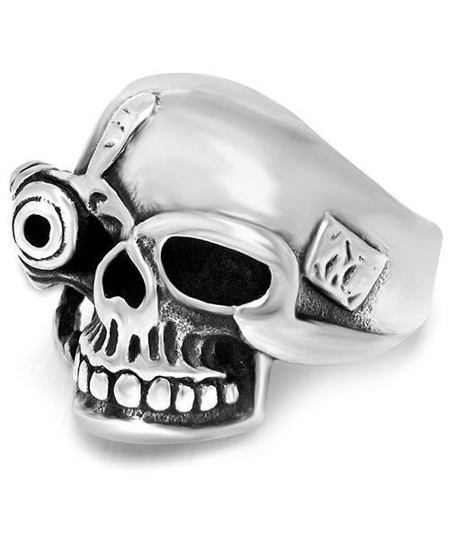 Skull Biker Ring