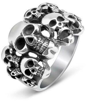 Silver Skull Ring for Men