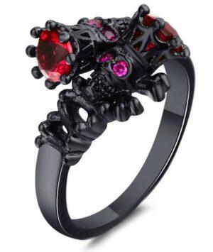 Dark Black Woman Ring