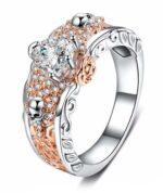 Flowers Diamonds Ring