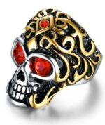 Red Eyes Skull Ring