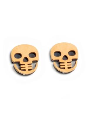 Gold Skull Earrings